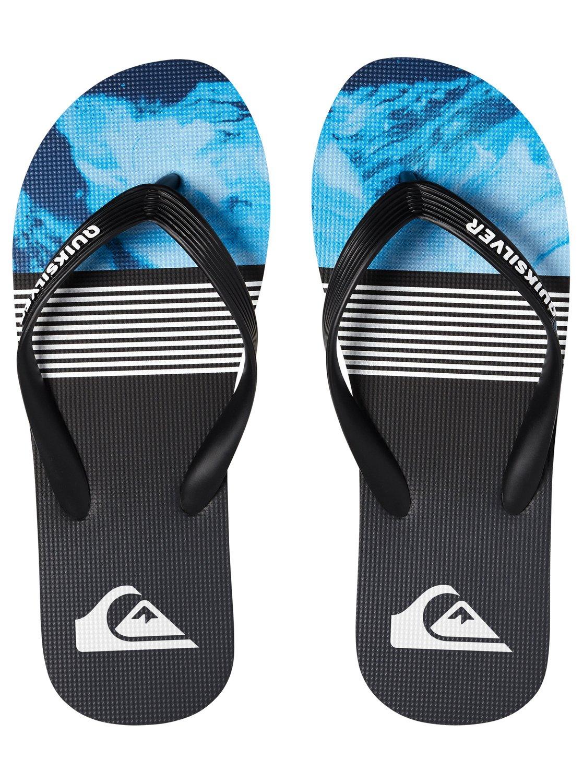 Quiksilver Molokai Lava Division Flip Flops in Blue