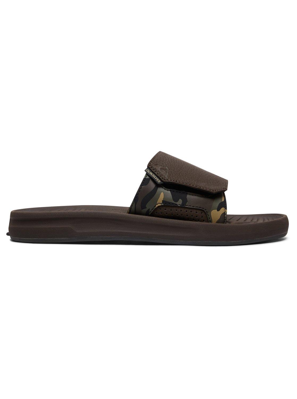 5a967fb6d71e 1 Travel Oasis Slider Sandals Brown AQYL100586 Quiksilver