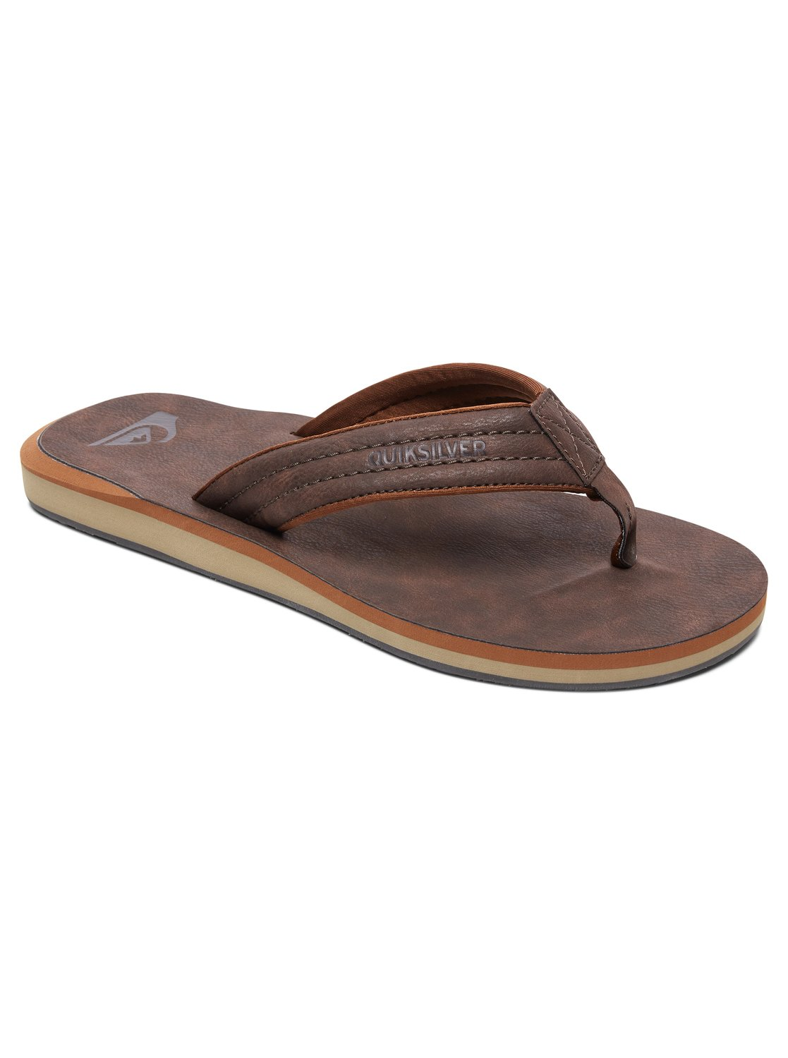 8d27555c6b72 0 Carver Nubuck Sandals Brown AQYL100623 Quiksilver