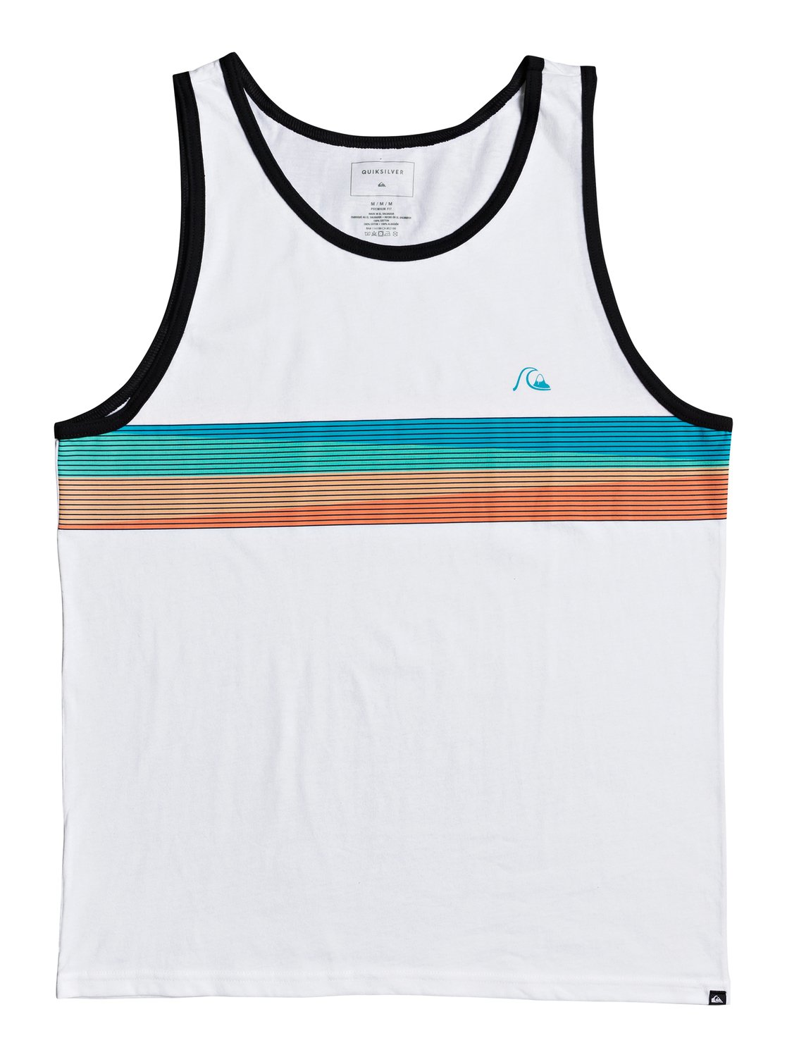 Charcoal Heather XXL Quiksilver Mens Sure Thing Tank