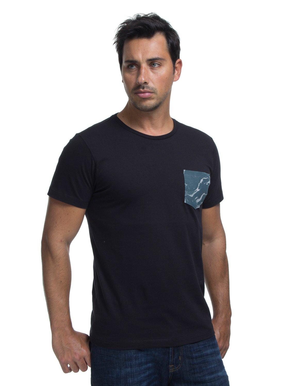 ed3d696e84 0 Camiseta Manga Curta Slim Fit Rail Drop Quiksilver Preto BR61142866  Quiksilver