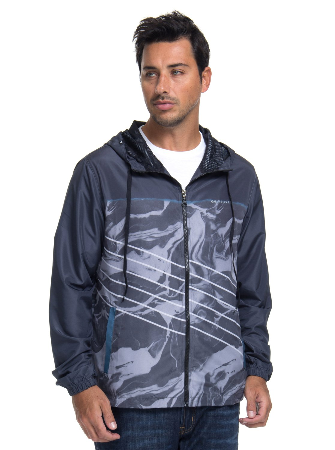 f1595519f 0 Jaqueta c  Capuz Regular Fit Highline Lava Slash Quiksilver BR64451255  Quiksilver