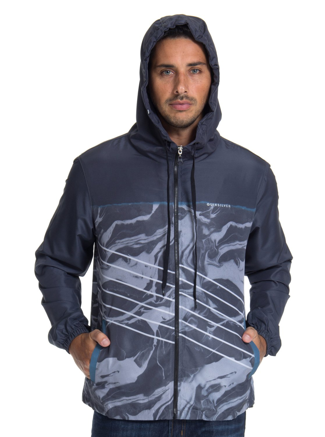 fbaeb7cb3 2 Jaqueta c  Capuz Regular Fit Highline Lava Slash Quiksilver BR64451255  Quiksilver