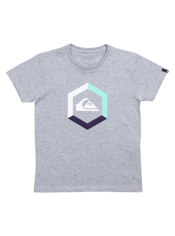 13f805fb5fa 0 Camiseta Infantil Tricolor Kids Quiksilver Cinza BR68112144 Quiksilver