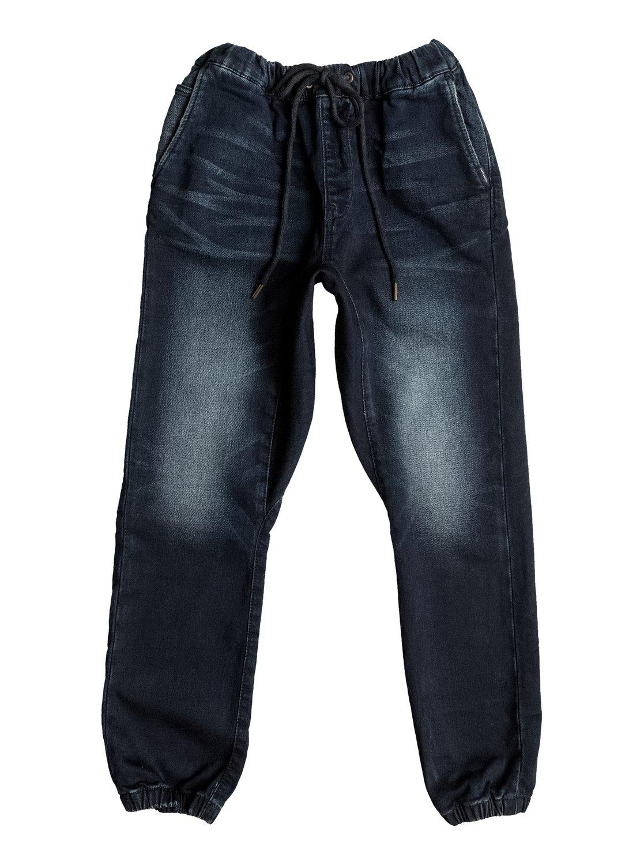 Joggingbroek Van Spijkerstof.Fonic Dark Blue Slim Fit Denim Joggingbroek Eqbdp03120 Quiksilver