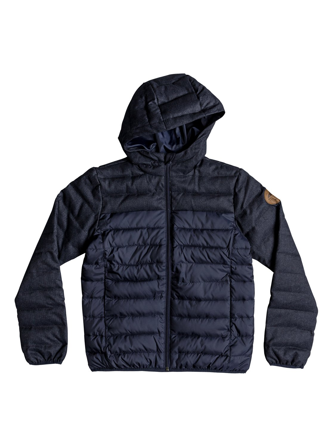 bf4ce90212bfb 0 Scaly Mix - Water-Resistant Hooded Insulator Jacket for Boys 8-16 Blue
