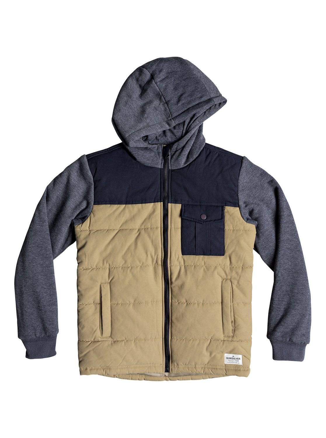 2f13e9d42e28 0 Oha You - Hooded Jacket for Boys 8-16 Brown EQBJK03157 Quiksilver