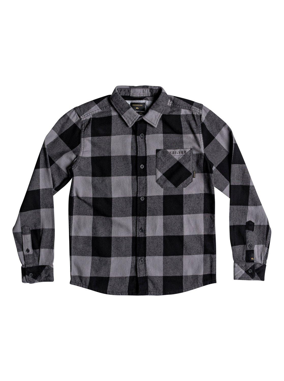 31c6f967ec9ab 0 Motherfly Flannel - Camisa de manga larga para Chicos 8-16 Negro  EQBWT03227 Quiksilver