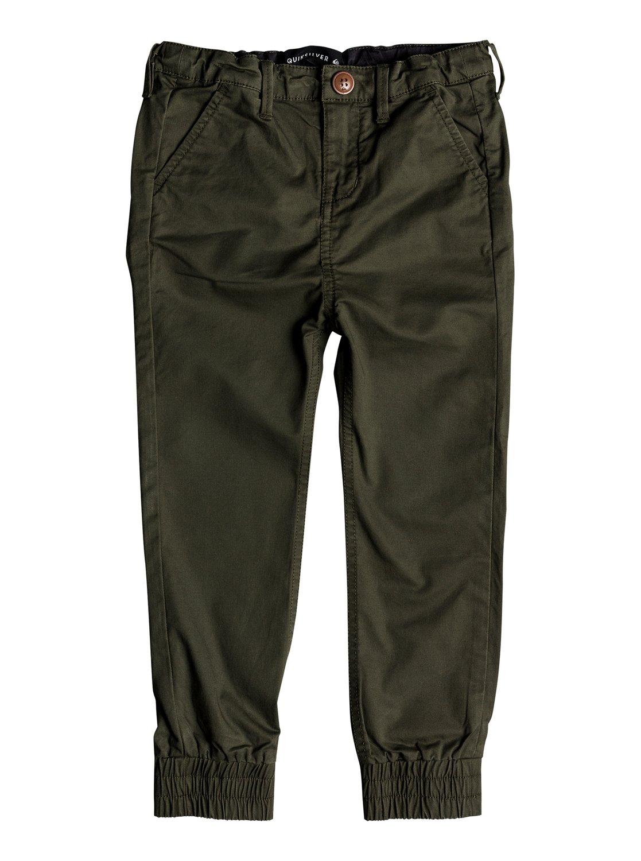 147f457bfb 0 Takamatsu - Pantalones elásticos de corte ajustado para Chicos 2-7 Verde  EQKNP03047 Quiksilver