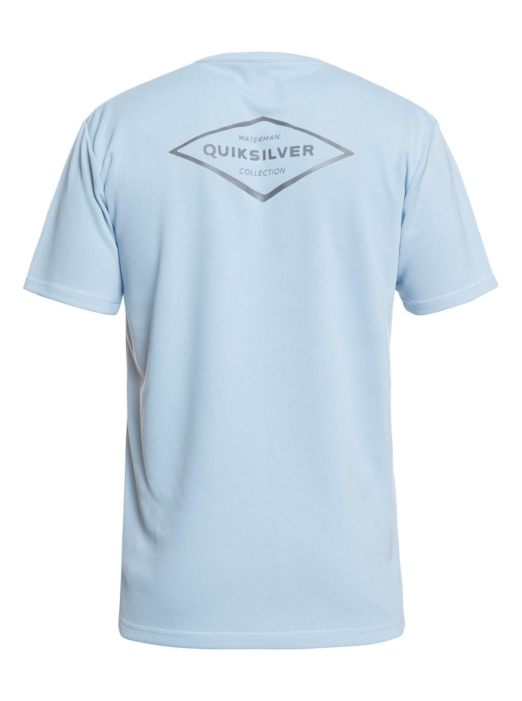 79072eaadec3c 1 Waterman Gut Check Short Sleeve UPF 30 Rashguard Blue EQMWR03050  Quiksilver