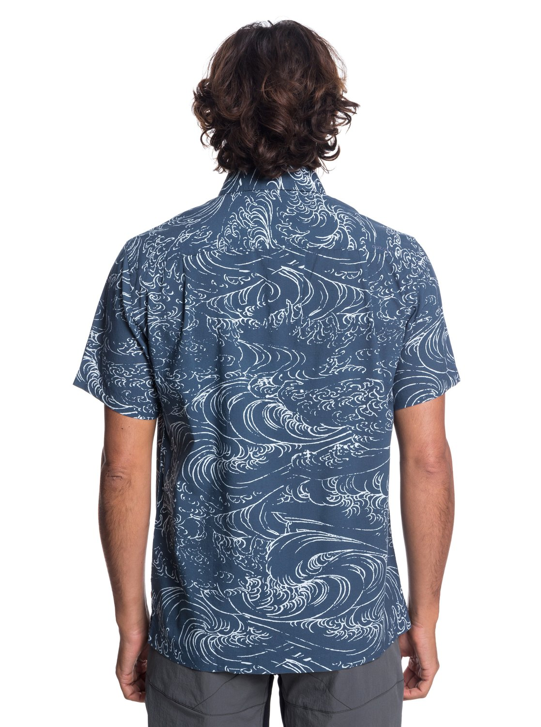 fca5a67e71a 2 Waterman Wind And Waves - Short Sleeve Shirt for Men Blue EQMWT03192  Quiksilver