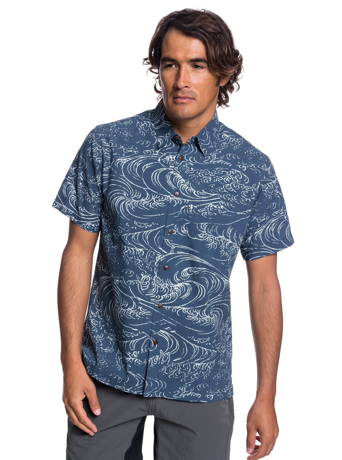 5f611326c57 0 Waterman Wind And Waves - Short Sleeve Shirt for Men Blue EQMWT03192  Quiksilver