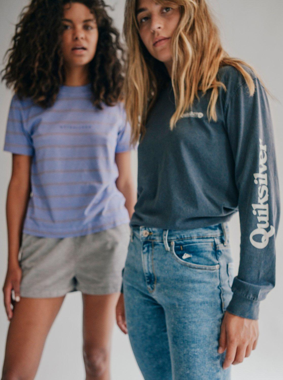 4fa474e37c 6 Quiksilver Womens High Rise Skinny Fit Jeans Blue EQWDP03000 Quiksilver