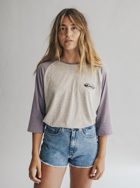 990d26f423 0 Quiksilver Womens - Denim-Shorts mit Hohem Bund für Frauen Blau  EQWDS03000 Quiksilver