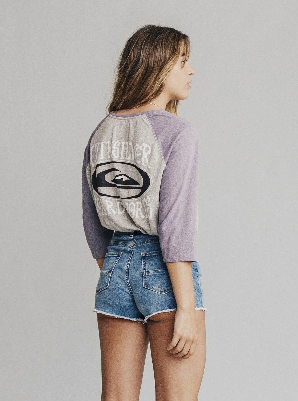 Korte Broek Dames Hoge Taille.Quiksilver Womens Denim Short Met Een Hoge Taille Voor Dames
