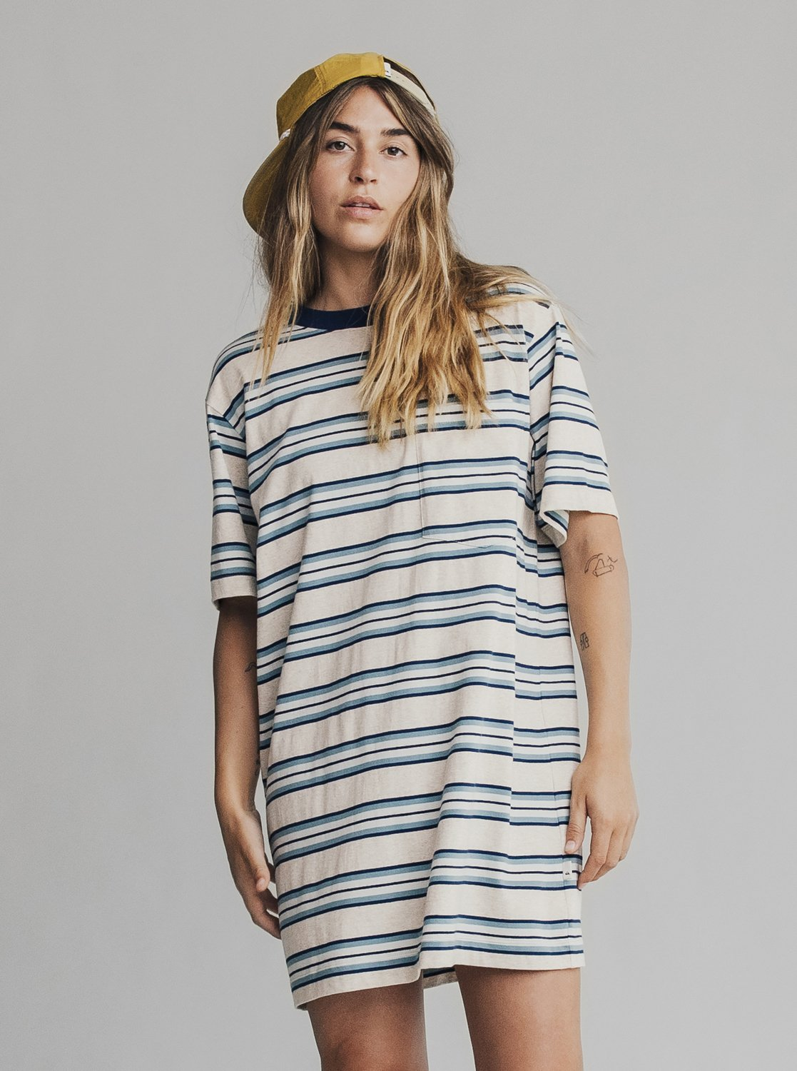 70b0eee93c70 0 Quiksilver Womens - Short Sleeve T-Shirt Dress Blue EQWKD03000 Quiksilver