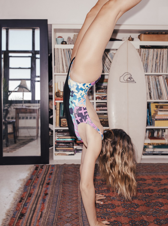 46dc054b013 6 Quiksilver Womens - High Leg One-Piece Swimsuit Orange EQWX103001  Quiksilver