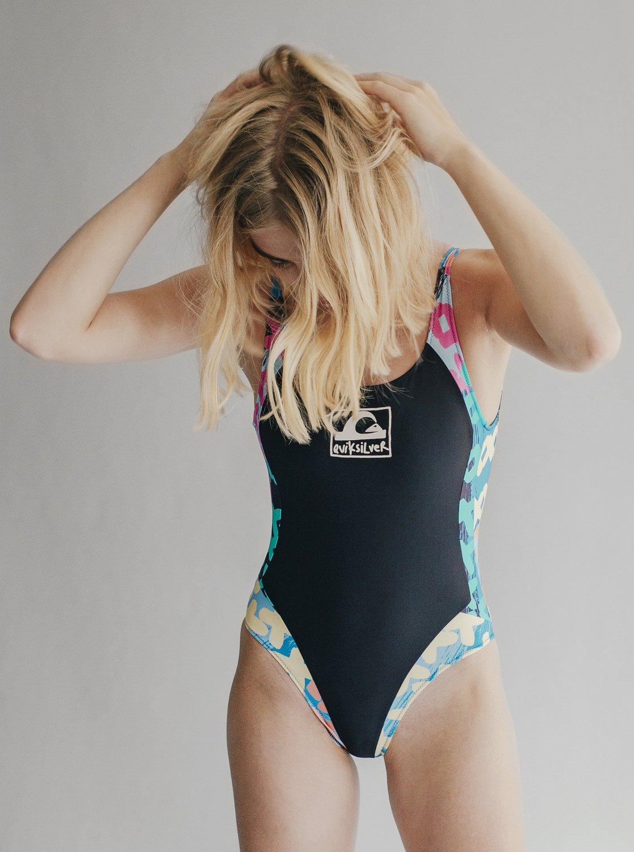 b49eebb69f7 2 Quiksilver Womens - High Leg One-Piece Swimsuit Orange EQWX103001  Quiksilver