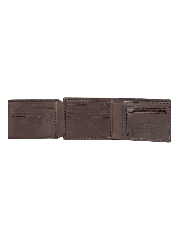 82e0cb50d 2 Curvecutter - Tri-Fold Wallet Brown EQYAA03746 Quiksilver