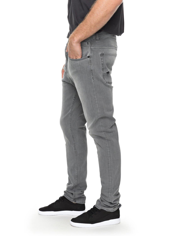 e30abc5c583f74 1 Low Bridge Grey - Skinny Fit Jeans for Men Black EQYDP03354 Quiksilver