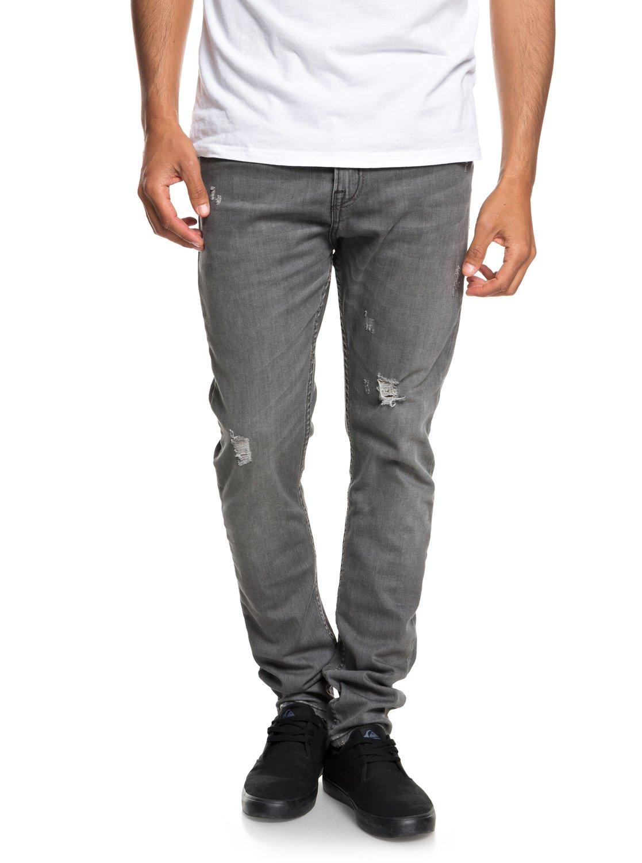 1d0e7e4b2db0 0 Low Bridge Grey Damaged - Slim Fit Drop Crotch Jeans for Men Grey  EQYDP03371 Quiksilver