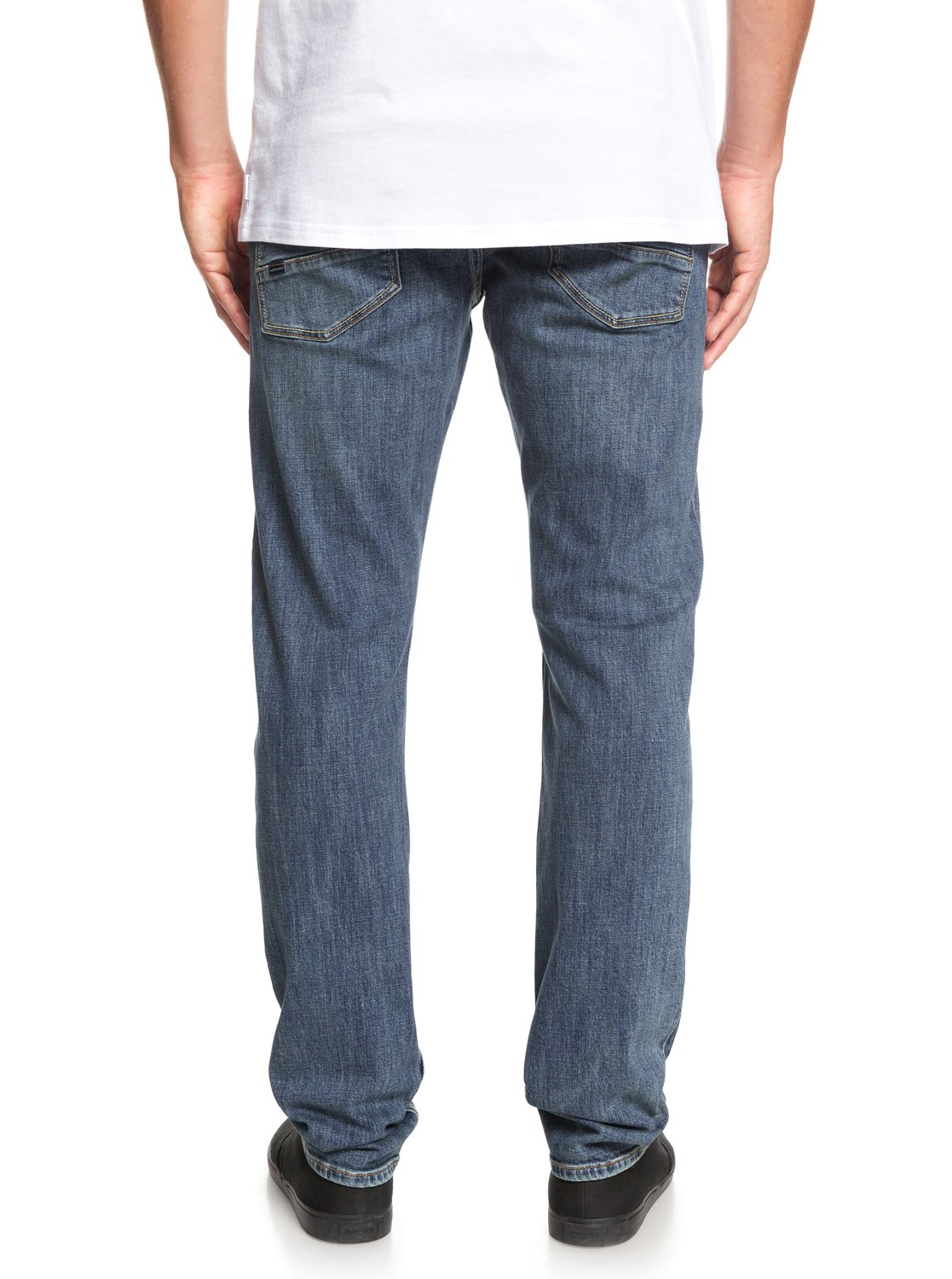 94f4bffbae77c Details about Quiksilver™ Revolver Medium Blue Straight Fit Jeans EQYDP03372