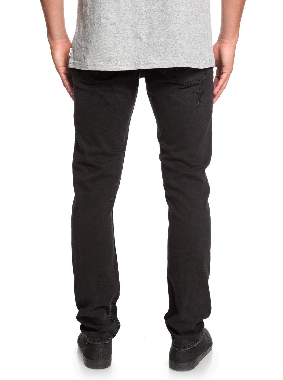 1c921ec3 6 Distorsion Stranger Black - Slim Fit Jeans for Men Black EQYDP03384  Quiksilver