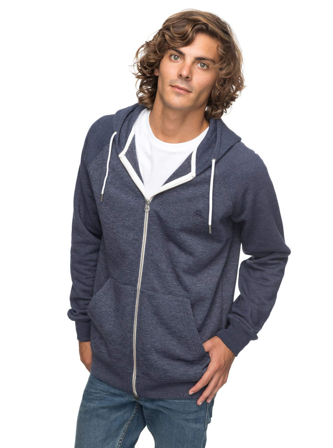 2b5130a3628 0 Everyday - Zip-Up Hoodie for Men Blue EQYFT03429 Quiksilver