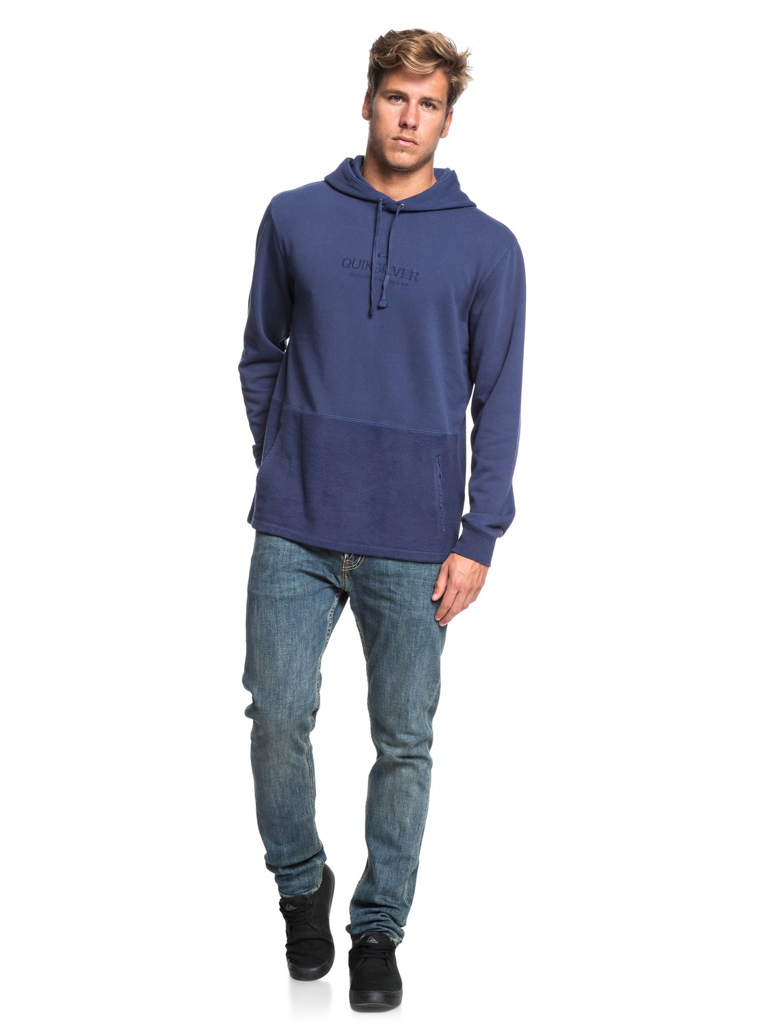 Quiksilver-Voodoo-Red-Zone-Sweat-a-capuche-pour-Homme-EQYFT03932 miniature 8