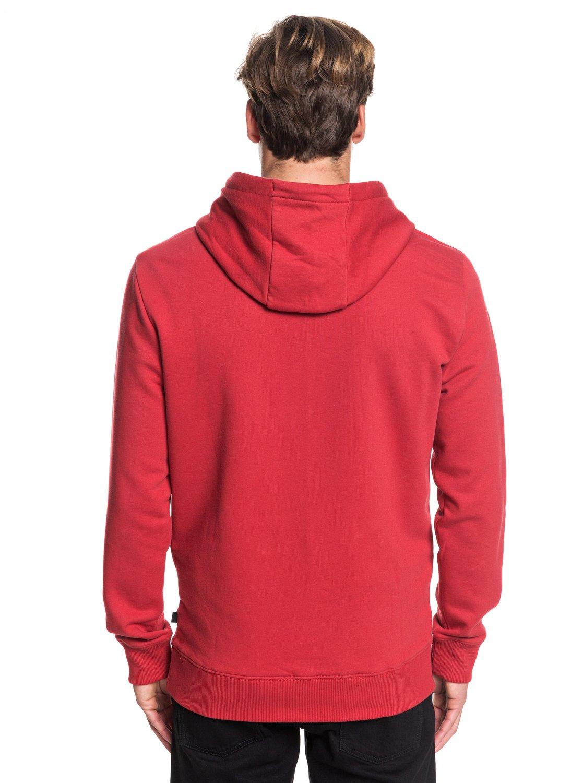 Quiksilver-Sudadera-con-Capucha-Hombre-L-Rojo miniatura 6