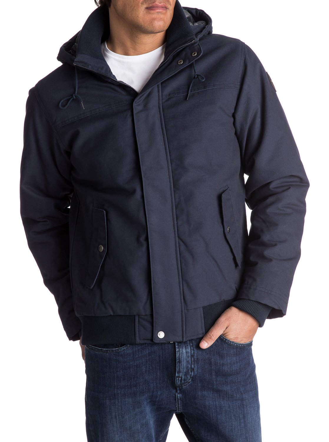55ffc6b17836 0 Everyday Brooks - Water-Repellent Hooded Bomber Jacket for Men EQYJK03365  Quiksilver
