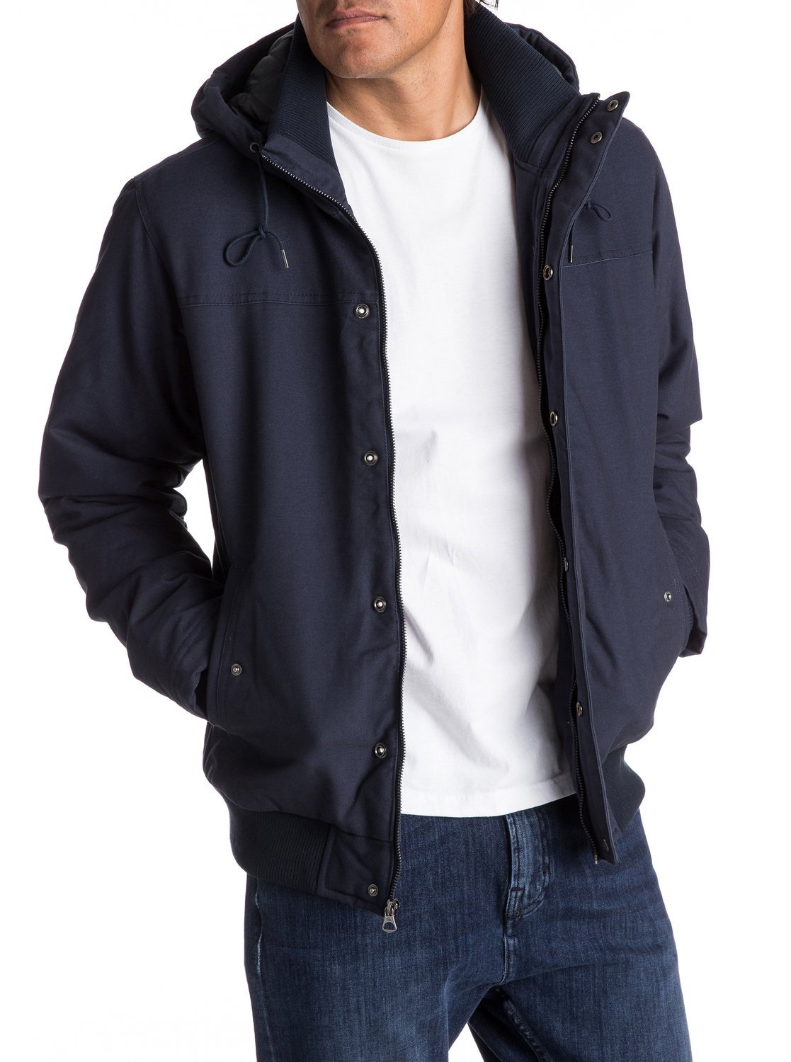 50f97e2013e4 1 Everyday Brooks - Water-Repellent Hooded Bomber Jacket for Men EQYJK03365  Quiksilver