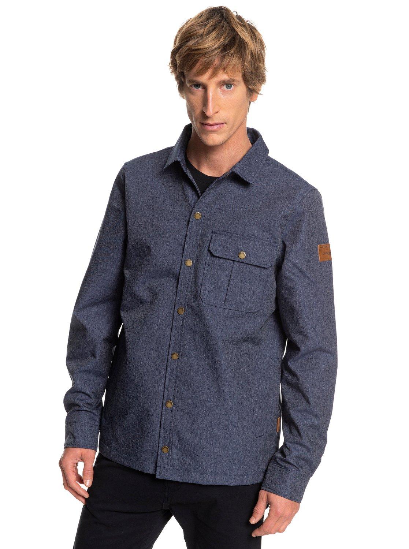 6b1393a90ad 0 Wildcard Denim Waterproof Over Shirt Blue EQYJK03417 Quiksilver