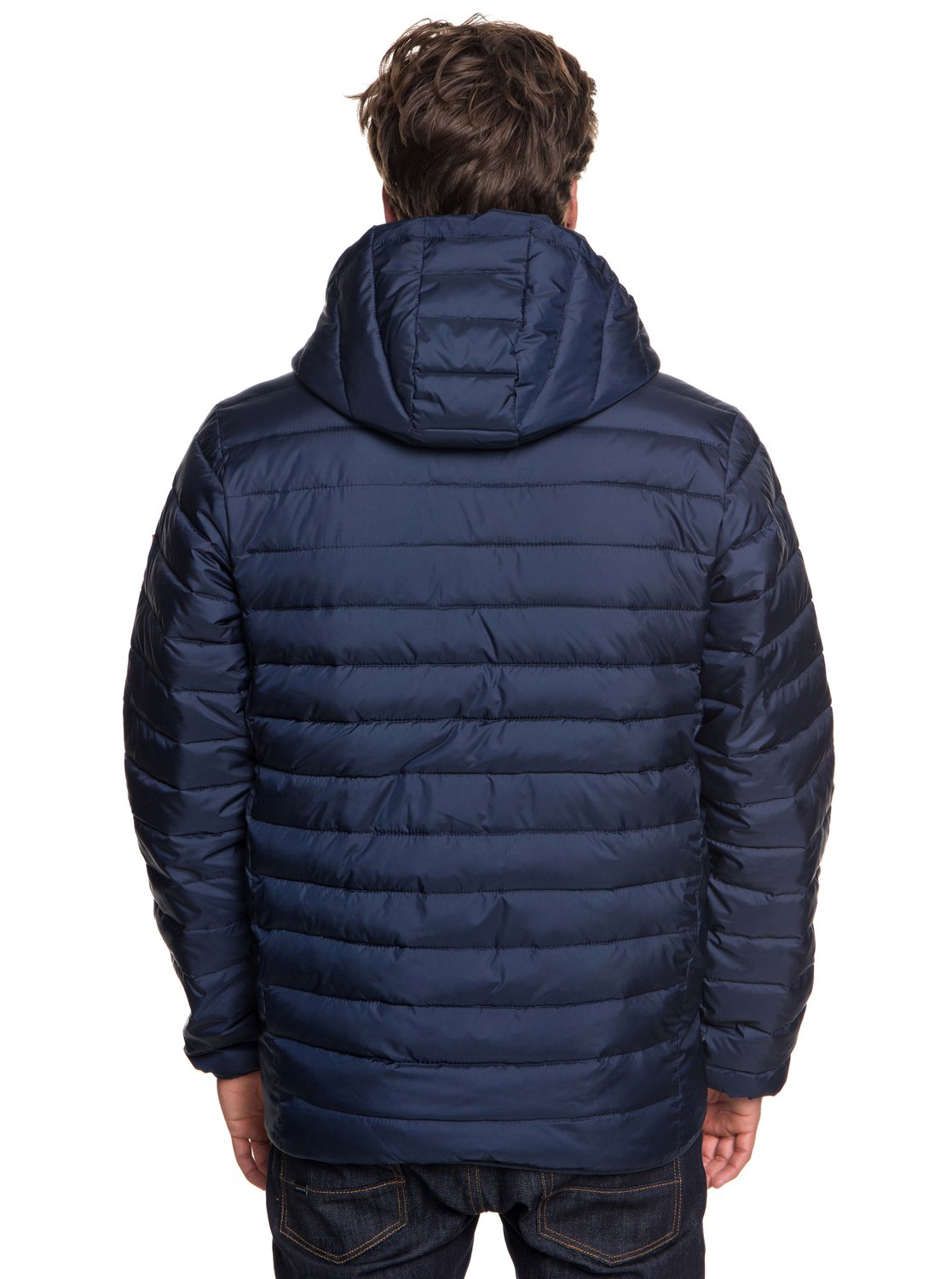 509f078574e60 3 Scaly - Water-Resistant Puffer Jacket for Men Blue EQYJK03418 Quiksilver