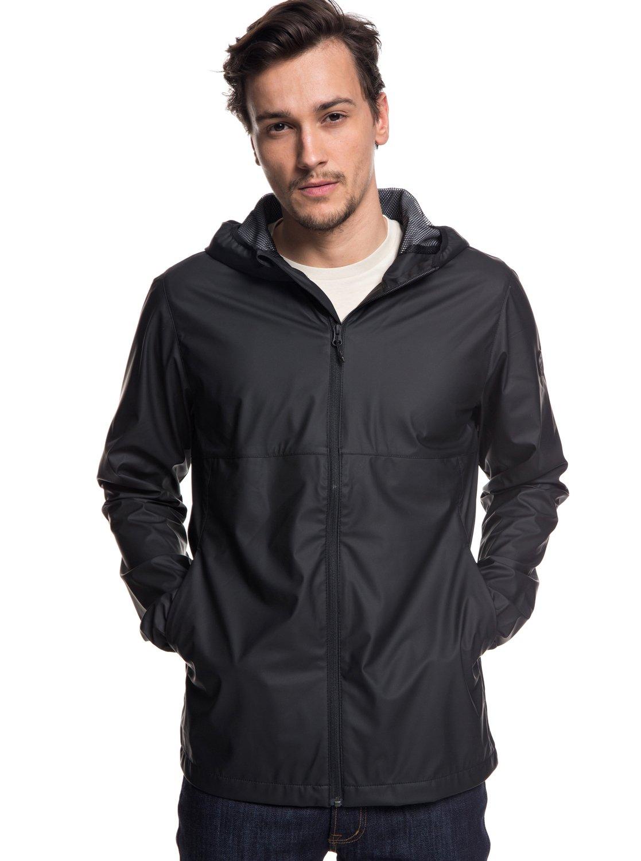42e574a969 0 Kamakura Rains Hooded Raincoat Black EQYJK03438 Quiksilver