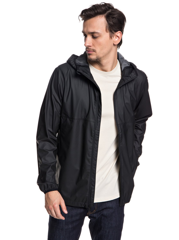 508df53df8 2 Kamakura Rains Hooded Raincoat Black EQYJK03438 Quiksilver
