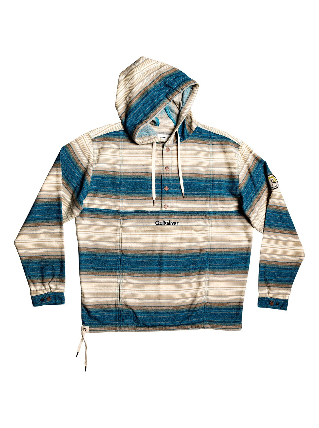 4fb8ecff4cc67a 0 Neo Inca Hooded Flannel Anorak Blue EQYJK03526 Quiksilver