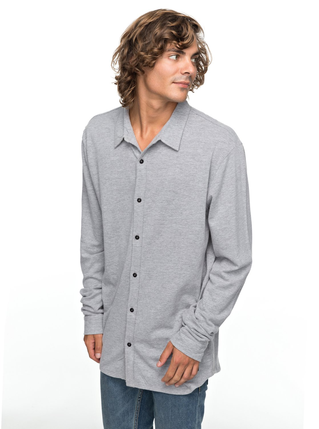 aa21aa253209 0 Long Effect - Long Sleeve Shirt for Men Grey EQYKT03719 Quiksilver