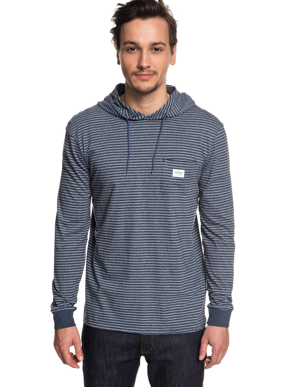 5bd7f0611 0 Zermet - Long Sleeve Hooded T-Shirt for Men Blue EQYKT03781 Quiksilver