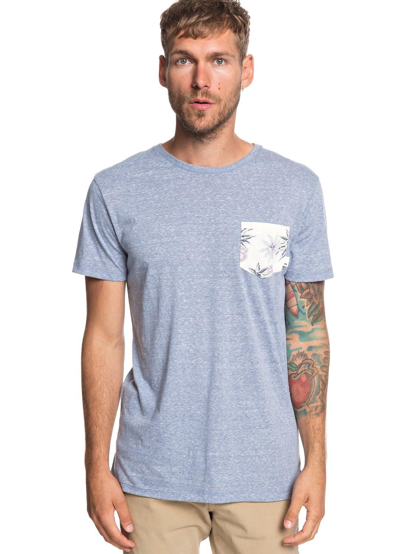 773701b4ca2bcb 0 Broken Leash - Camiseta con Bolsillo para Hombre Azul EQYKT03862  Quiksilver