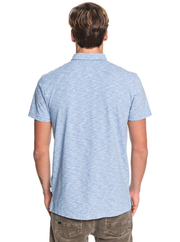 5c7cf4fbe 4 Everyday Sun Cruise - Short Sleeve Polo Shirt Blue EQYKT03957 Quiksilver