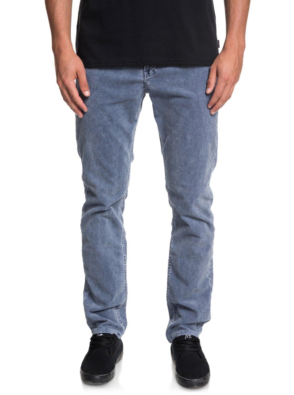 4344fe23 0 Kracker Straight Fit Corduroy Pants Blue EQYNP03129 Quiksilver