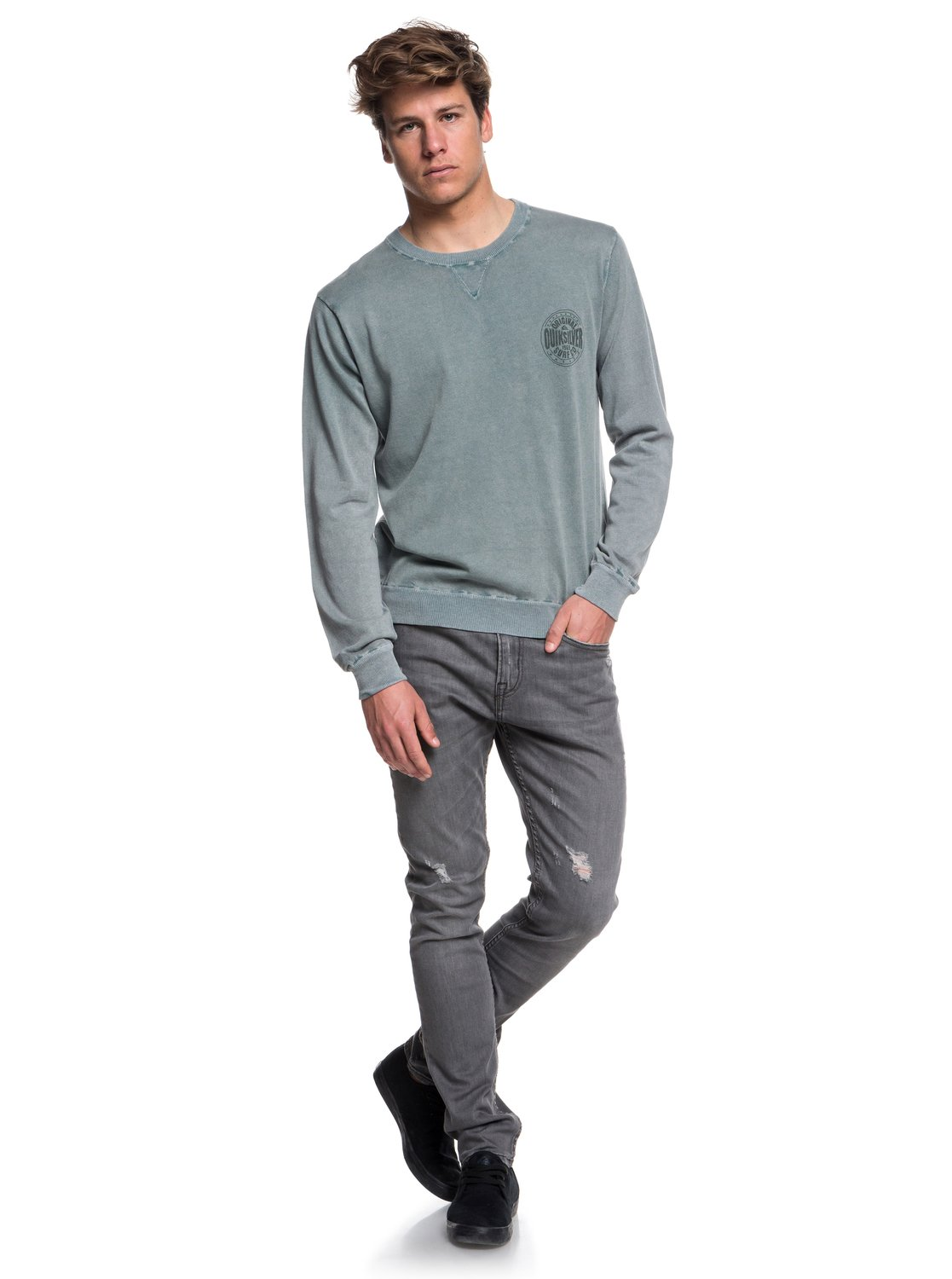 Quiksilver-Miyako-Reef-Pull-col-rond-pour-Homme-EQYSW03221 miniature 6