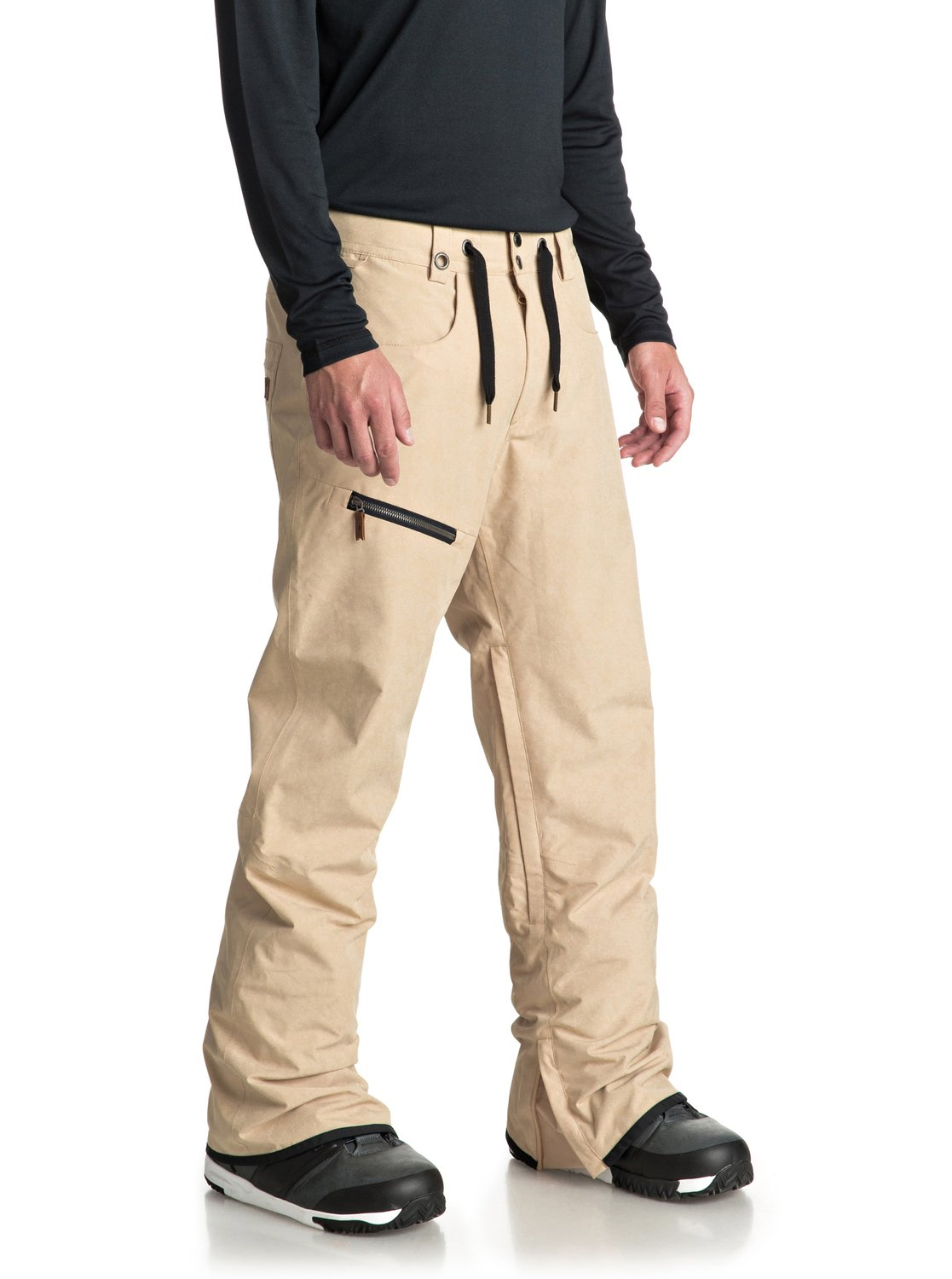 e68262ad23281 2 Forest Oak - Shell Snow Pants for Men Beige EQYTP03084 Quiksilver