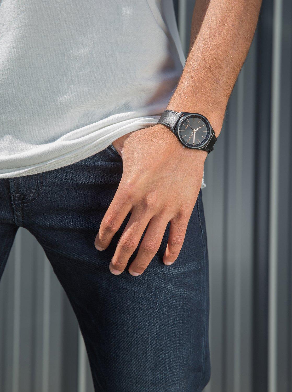 5e4dcc699793 Quiksilver-Bienville-Leather-Reloj-Analogico-para-Hombre-EQYWA03014  miniatura