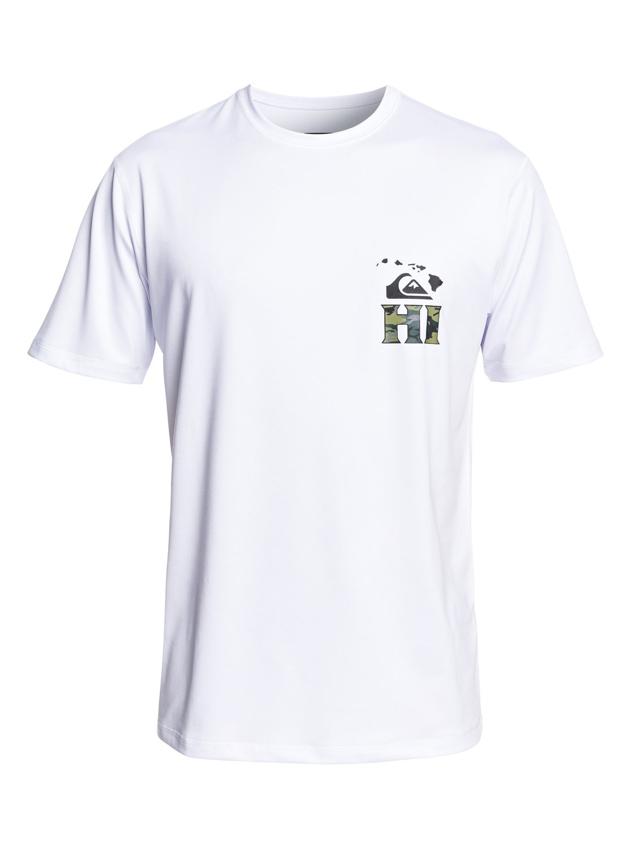White Quiksilver Mens Hawaii HI T-Shirt