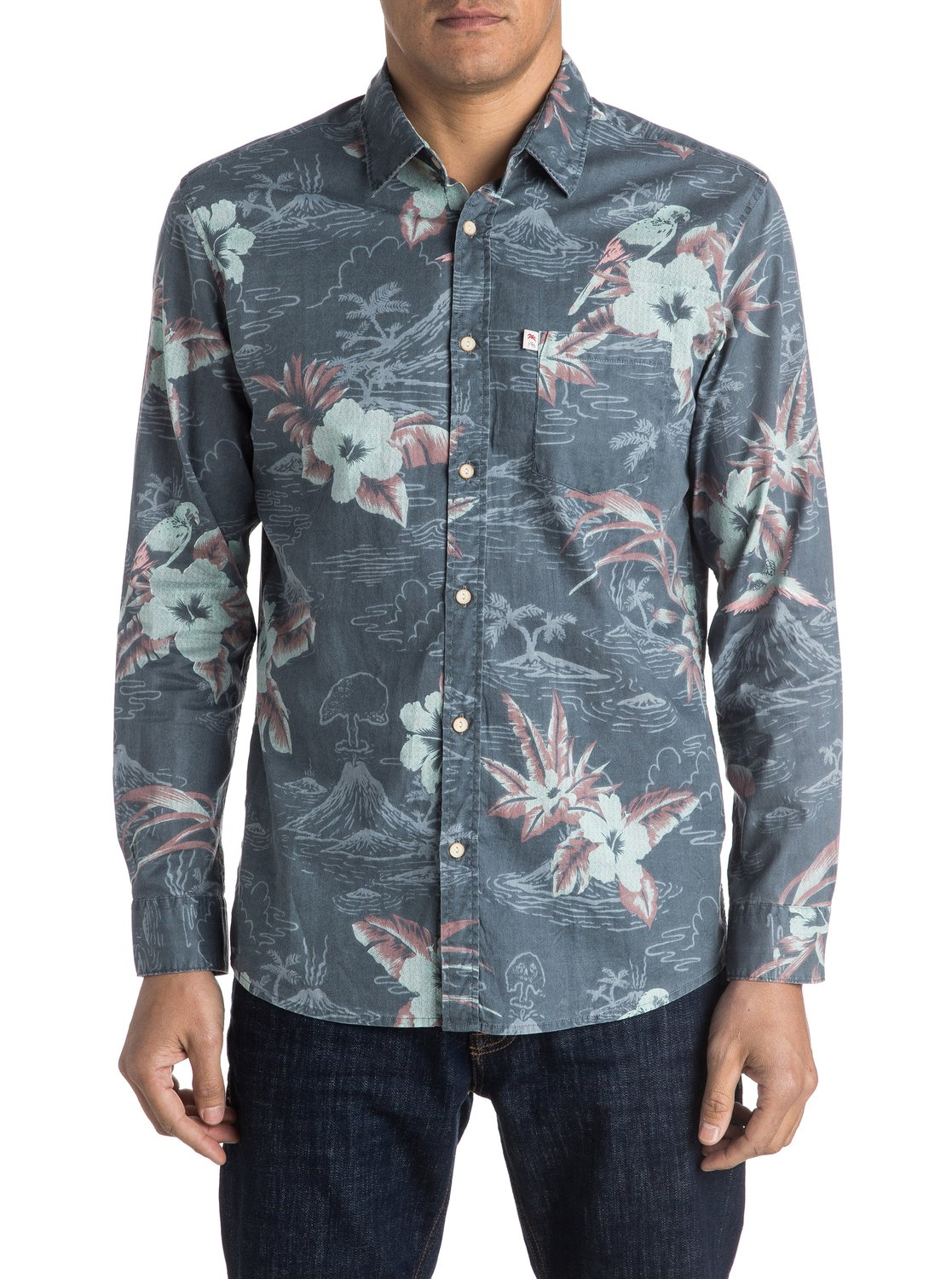 5fc5edb65fe 0 Parrot Jungle - Long Sleeve Shirt EQYWT03394 Quiksilver