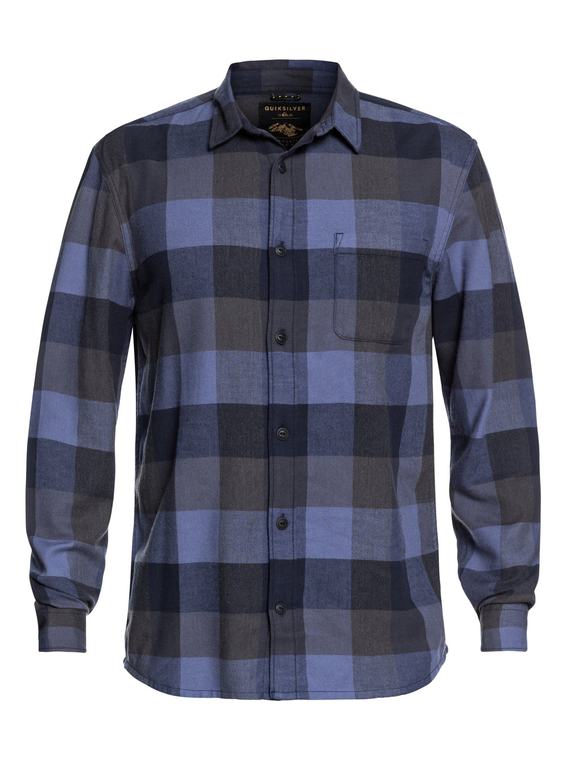 62d537f2c0ae 4 Stretch Flannel - Water-Resistant Long Sleeve Shirt for Men Blue  EQYWT03693 Quiksilver