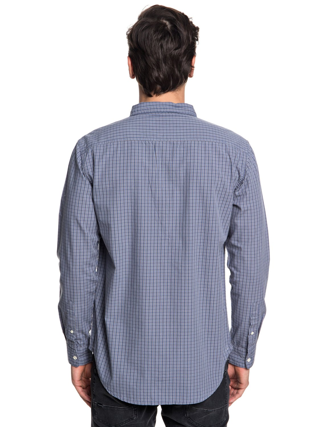 Quiksilver-Everyday-Check-Chemise-a-manches-longues-pour-Homme-EQYWT03722 miniature 7