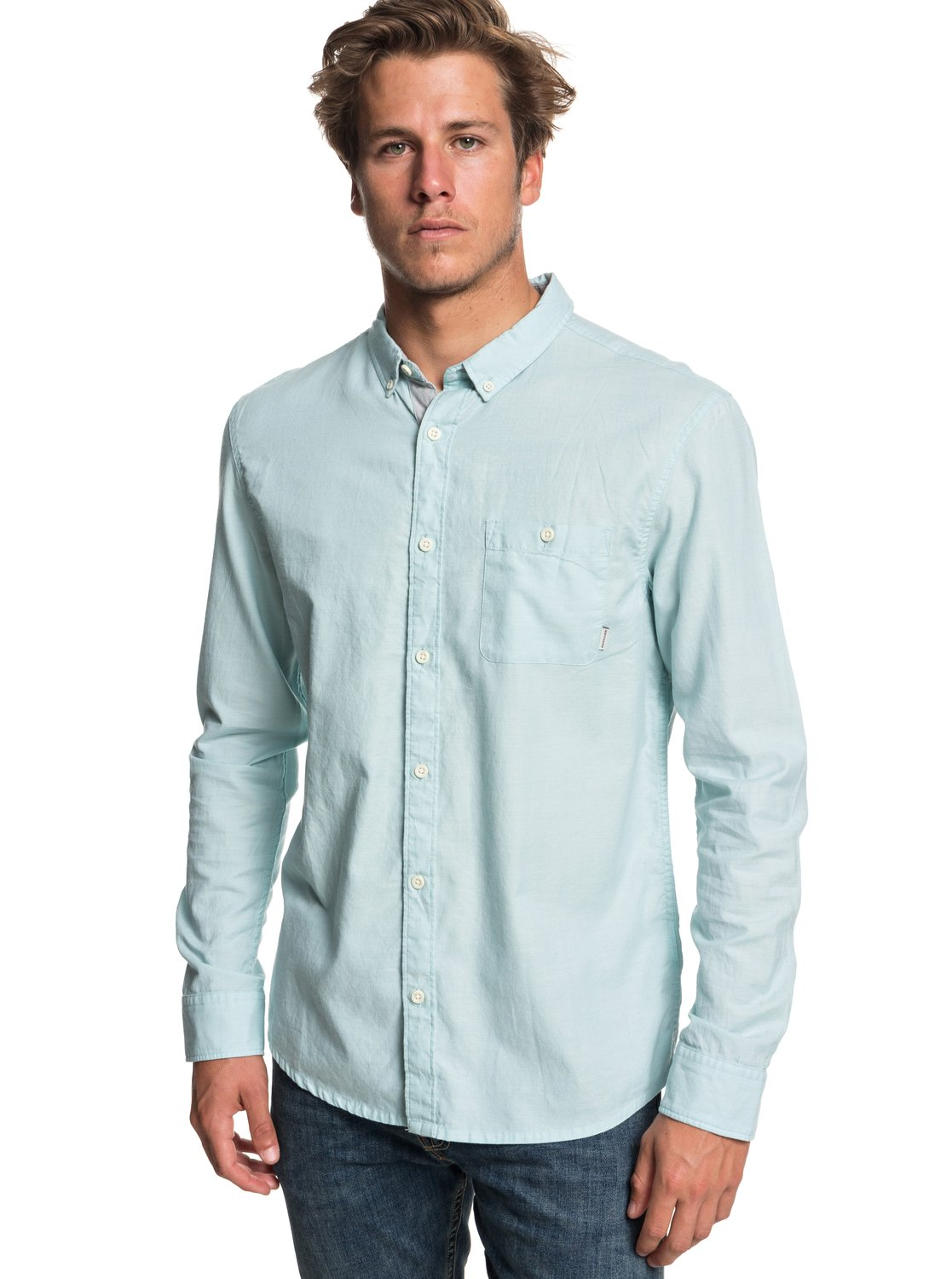1c79a5dfe5de 0 Waterfalls Long Sleeve Shirt Blue EQYWT03725 Quiksilver
